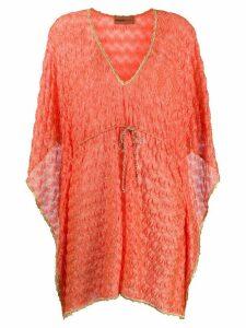 Missoni Mare drawstring-waist beach dress - ORANGE