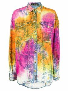 Versace tie-dye denim shirt - ORANGE