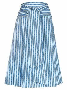 Tory Burch tie-front skirt - Blue