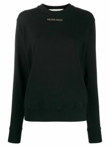 Golden Goose slogan print sweatshirt - Black