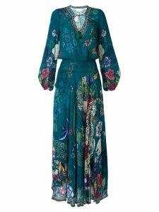 Camilla Lunar Gazing Print Shirred dress - Multicolour