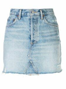 AGOLDE frayed denim skirt - Blue