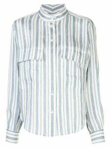 FRAME mandarin collar striped shirt - Blue