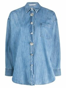 Ermanno Scervino embellished button shirt - Blue