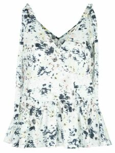 Jason Wu tie-shoulder printed blouse - White