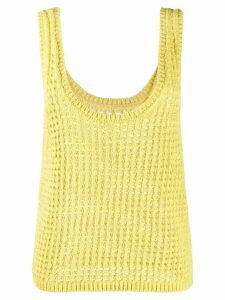 Nanushka perforated knit top - Yellow