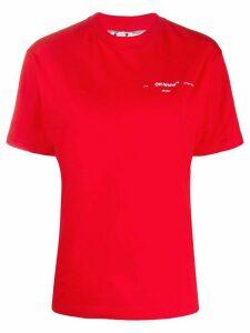 Off-White arrows logo print T-shirt - Red