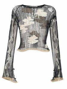 Acne Studios floral knit jumper - Blue