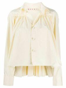 Marni ruffle detail blouse - NEUTRALS