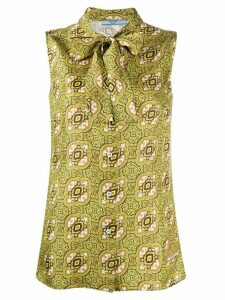 Prada Arabesque print sleeveless blouse - Green