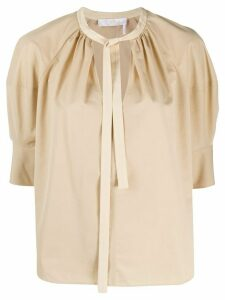 Chloé puff sleeves blouse - NEUTRALS