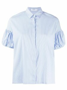Barba short puff-sleeved shirt - Blue