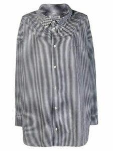 Balenciaga Cocoon Swing gingham shirt - Black