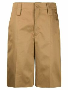 Prada tailored knee length shorts - Brown