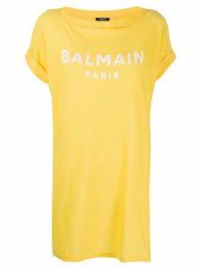 Balmain logo oversized T-shirt - Yellow