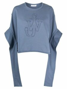 JW Anderson Anchor elongated sleeves sweatshirt - Blue