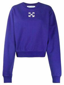 Off-White Spray Arrows cropped sweatshirt - Blue