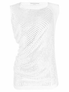 Ermanno Scervino embellished knitted top - White