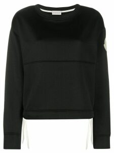Moncler side tie sweatshirt - Black