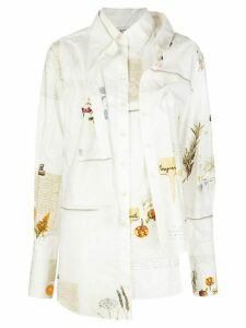 Monse deconstructed layered shirt - White