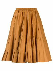 See by Chloé pleated midi skirt - Brown
