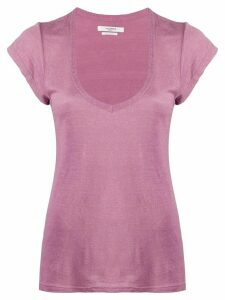 Isabel Marant Étoile Kranger linen T-shirt - PURPLE