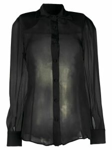 Federica Tosi silk sheer blouse - Black
