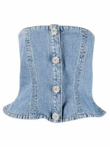 GANNI denim corset - Blue