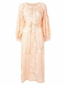 Bambah Alyssum floral embroidered dress - PINK