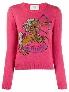 Alberta Ferretti Love Me Starlight Sagittarius jumper - PINK
