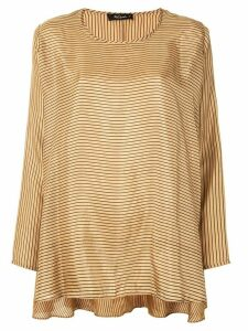 Mes Demoiselles Charmeuse striped T-shirt - Brown
