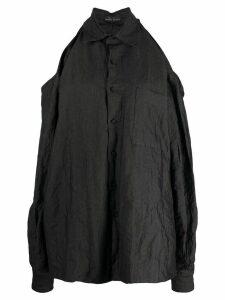 Barbara Bologna crinkled cut-out shirt - Black