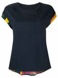Luisa Cerano short sleeve back print blouse - Blue
