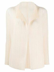 Issey Miyake micro-pleated jacket - NEUTRALS