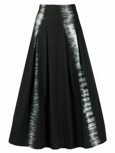 MSGM tie-dye stripe skirt - Black