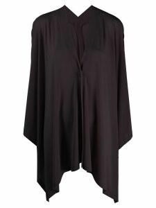 Issey Miyake asymmetric fine-knit cardigan - Black