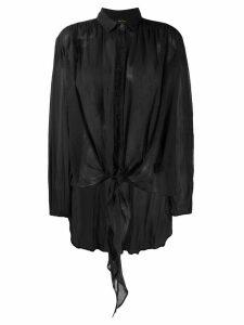Mes Demoiselles oversized sheer shirt - Black