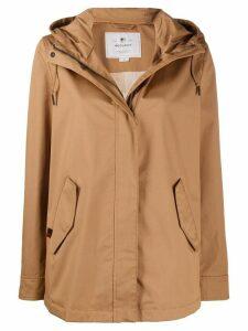 Woolrich hooded zip-up jacket - NEUTRALS