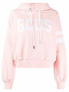 Gcds voluminous-sleeve logo hoodie - PINK
