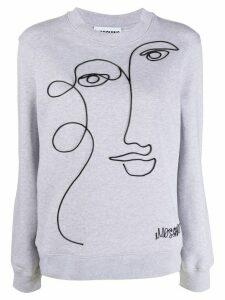 Moschino abstract face sweatshirt - Grey