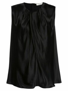 The Row sleeveless flared blouse - Black