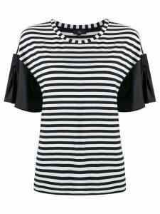 Fay pleat sleeve mariner - White