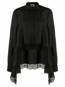 Alexander McQueen handkerchief hem shirt - Black