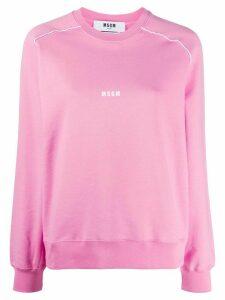 MSGM trimmed logo sweatshirt - PINK