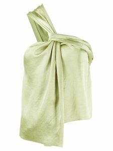 Nanushka twisted neck satin blouse - Green
