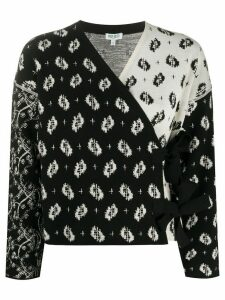 Kenzo Ikat and Urchin Waves print cardigan - Black