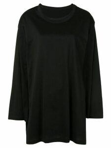 Yohji Yamamoto oversized long-sleeve top - Black