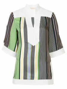 Tory Burch open-collar striped tunic - Multicolour