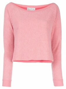 Wildfox Tilda cropped jumper - PINK