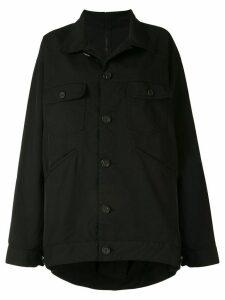 Yohji Yamamoto oversized jacket top - Black